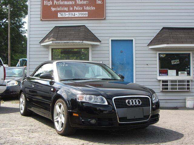 2008 Audi A4 for sale at High Performance Motors in Nokesville VA