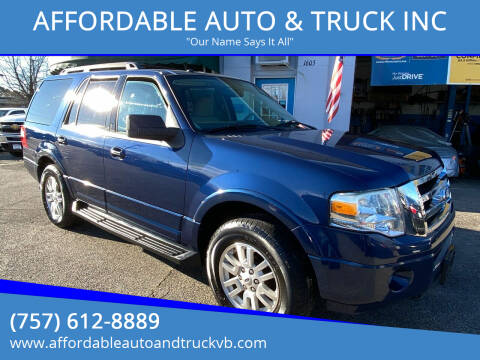 2011 Ford Expedition for sale at AFFORDABLE AUTO & TRUCK INC in Virginia Beach VA