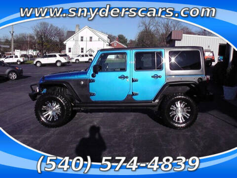 2015 Jeep Wrangler Unlimited for sale at Snyders Auto Sales in Harrisonburg VA