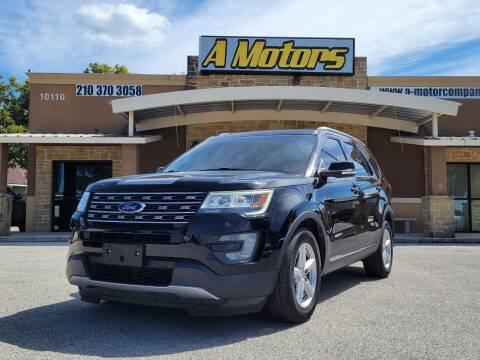2016 Ford Explorer for sale at A MOTORS SALES AND FINANCE - 10110 West Loop 1604 N in San Antonio TX