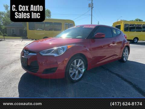 2016 Hyundai Veloster for sale at C. Cox Auto Sales Inc in Joplin MO