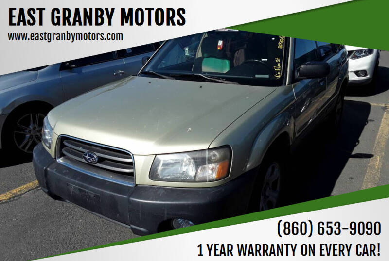 2004 Subaru Forester for sale at EAST GRANBY MOTORS in East Granby CT