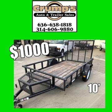 2018 10' Utility Trailer for sale at CRUMP'S AUTO & TRAILER SALES in Crystal City MO
