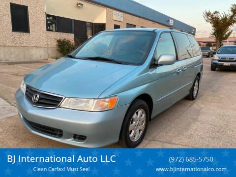 2004 Honda Odyssey for sale at BJ International Auto LLC in Dallas TX