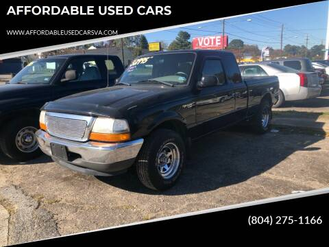 2000 Ford Ranger for sale at AFFORDABLE USED CARS in Richmond VA