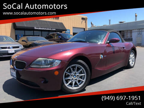 2005 BMW Z4 for sale at SoCal Automotors in Costa Mesa CA