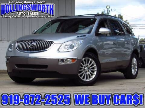 2012 Buick Enclave for sale at Hollingsworth Auto Sales in Raleigh NC
