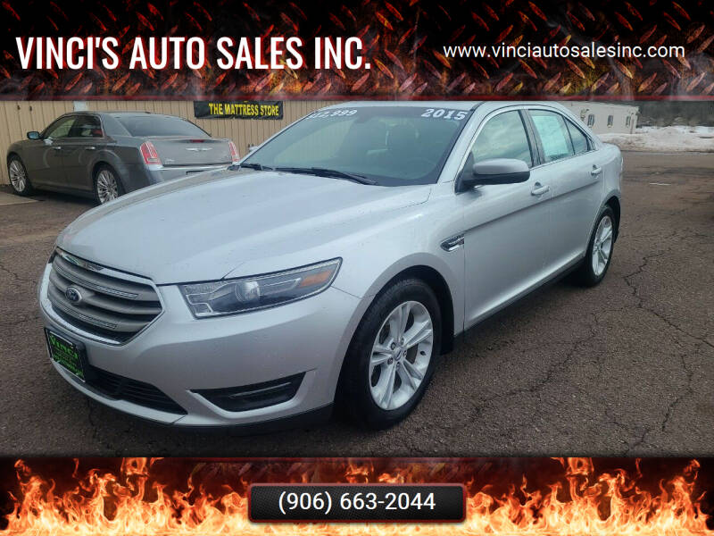 2015 Ford Taurus for sale at Vinci's Auto Sales Inc. in Bessemer MI