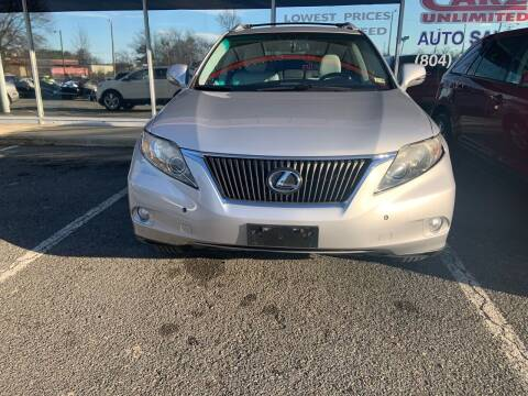 2011 Lexus RX 350 for sale at Carz Unlimited in Richmond VA