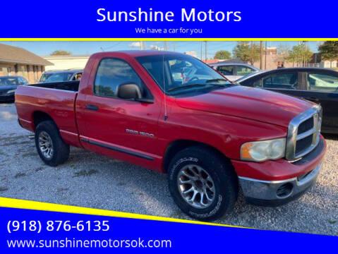 2003 Dodge Ram Pickup 1500 for sale at Sunshine Motors in Bartlesville OK