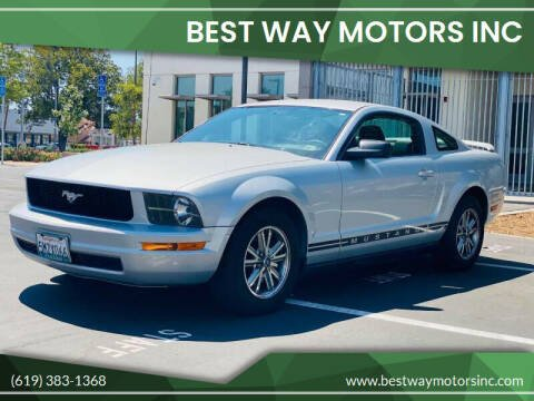 2005 Ford Mustang for sale at BEST WAY MOTORS INC in San Diego CA