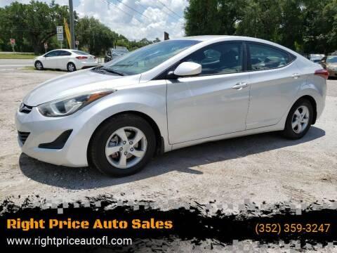 2015 Hyundai Elantra for sale at Right Price Auto Sales-Gainesville in Gainesville FL