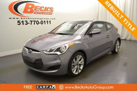 2016 Hyundai Veloster for sale at Becks Auto Group in Mason OH