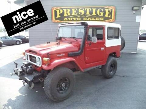 1978 Toyota LANDCRUISE for sale at PRESTIGE AUTO SALES in Spearfish SD