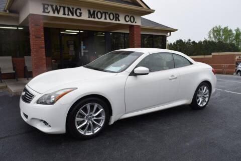 2012 Infiniti G37 Convertible for sale at Ewing Motor Company in Buford GA