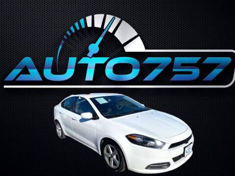 2015 Dodge Dart for sale at Auto 757 - In House Finance in Norfold VA