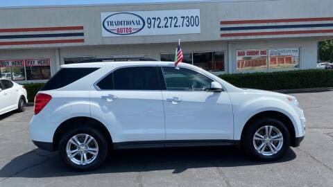 2012 Chevrolet Equinox for sale at Traditional Autos in Dallas TX