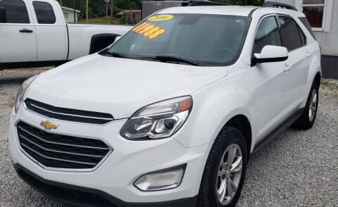 2016 Chevrolet Equinox for sale at COOPER AUTO SALES in Oneida TN