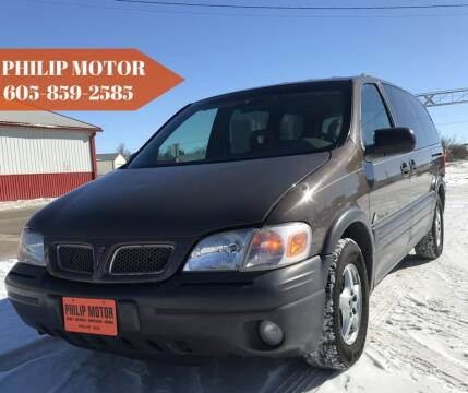2000 Pontiac Montana for sale at Philip Motor Inc in Philip SD