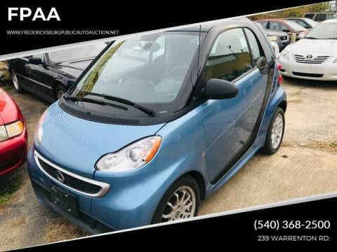 2014 Smart fortwo for sale at FPAA in Fredericksburg VA
