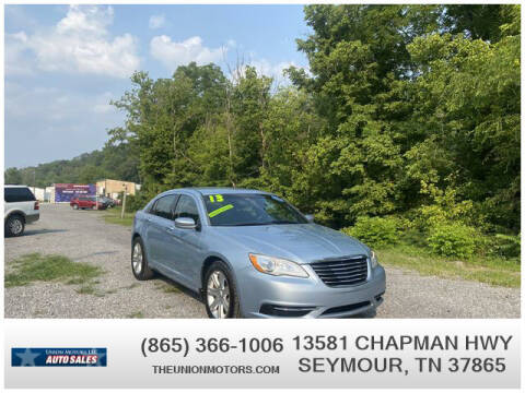 2013 Chrysler 200 for sale at Union Motors in Seymour TN