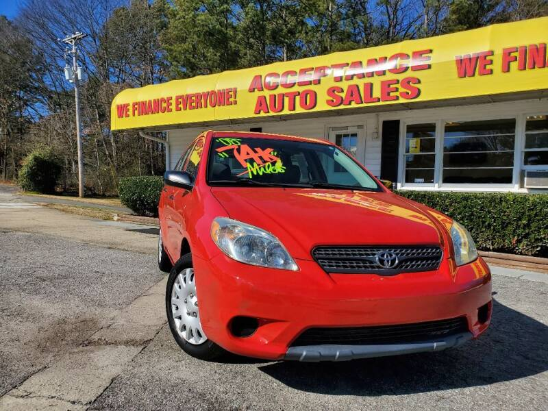 2005 Toyota Matrix for sale at Acceptance Auto Sales in Marietta GA