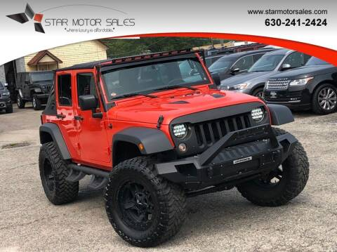 2015 Jeep Wrangler Unlimited for sale at Star Motor Sales in Downers Grove IL