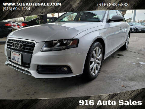 2012 Audi A4 for sale at 916 Auto Sales in Sacramento CA