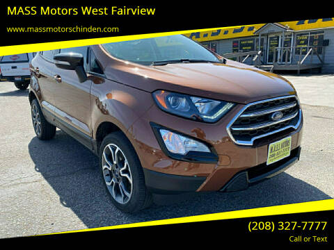 2019 Ford EcoSport for sale at MASS Motors West Fairview in Boise ID