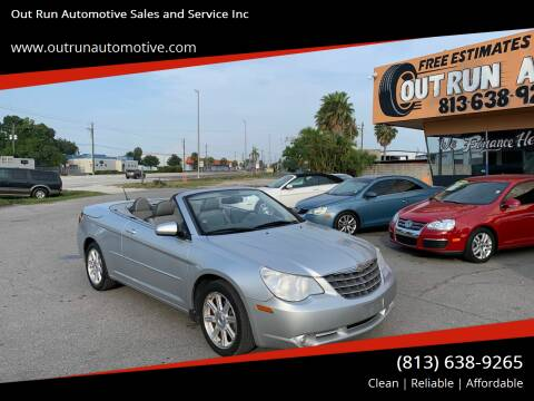 2008 Chrysler Sebring for sale at Out Run Automotive Sales and Service Inc in Tampa FL