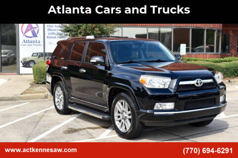 2013 Toyota 4Runner for sale at Atlanta Cars and Trucks in Kennesaw GA