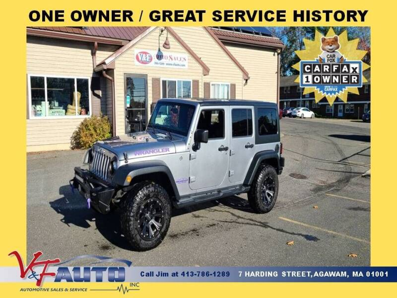 2016 Jeep Wrangler Unlimited for sale at V & F Auto Sales in Agawam MA