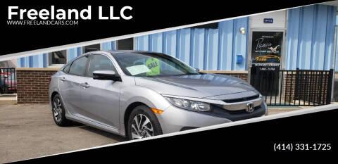 2016 Honda Civic for sale at Freeland LLC in Waukesha WI