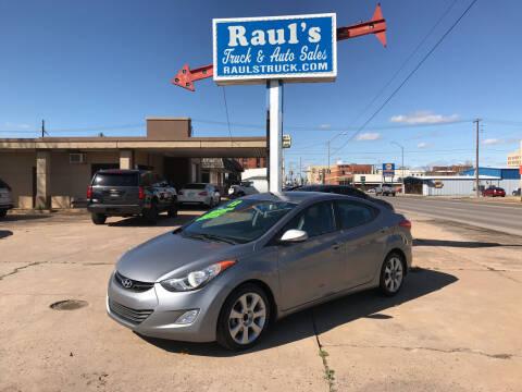 2013 Hyundai Elantra for sale at RAUL'S TRUCK & AUTO SALES, INC in Oklahoma City OK