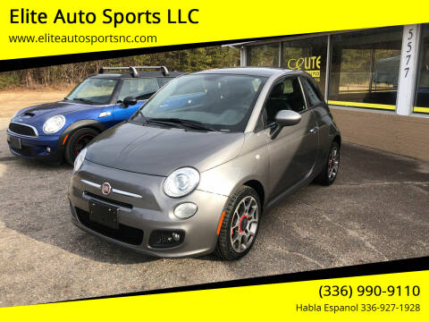 2012 FIAT 500 for sale at Elite Auto Sports LLC in Wilkesboro NC