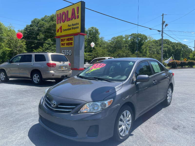 2013 Toyota Corolla for sale at No Full Coverage Auto Sales in Austell GA