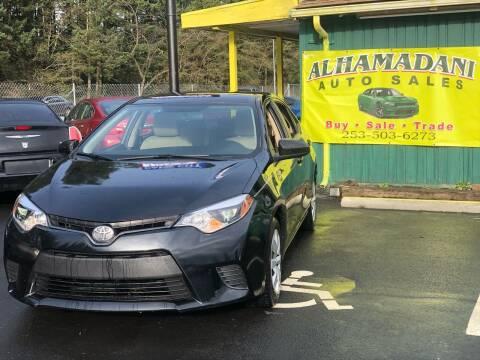 2016 Toyota Corolla for sale at ALHAMADANI AUTO SALES in Spanaway WA
