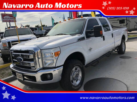 2013 Ford F-350 Super Duty for sale at Navarro Auto Motors in Hialeah FL