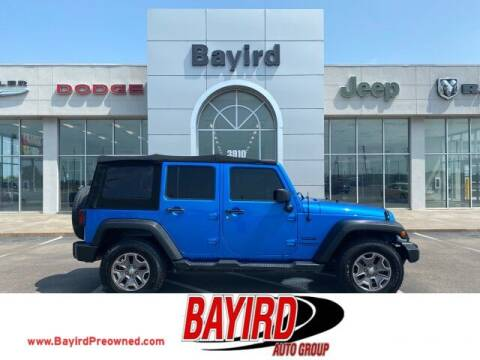 2016 Jeep Wrangler Unlimited for sale at Bayird Truck Center in Paragould AR