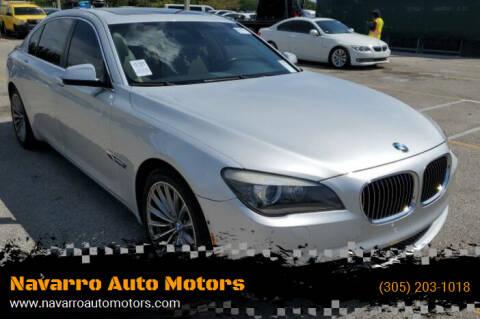 2011 BMW 7 Series for sale at Navarro Auto Motors in Hialeah FL