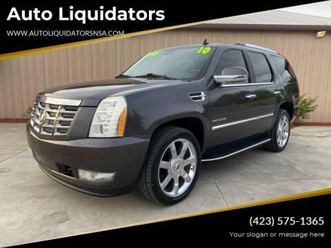 2010 Cadillac Escalade for sale at Auto Liquidators in Bluff City TN