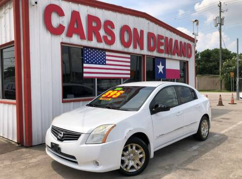 2011 Nissan Sentra for sale at Cars On Demand 2 in Pasadena TX