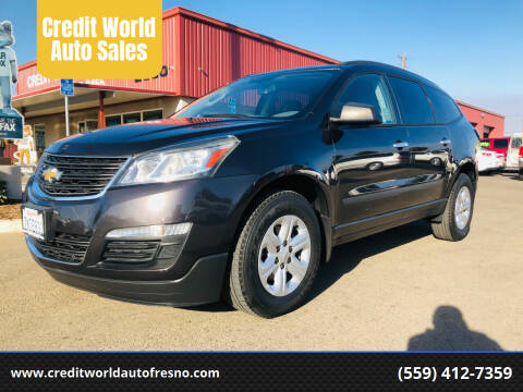 2015 Chevrolet Traverse for sale at Credit World Auto Sales in Fresno CA
