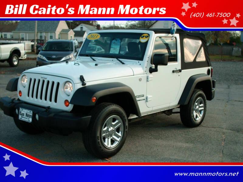 2013 Jeep Wrangler for sale at Bill Caito's Mann Motors in Warwick RI