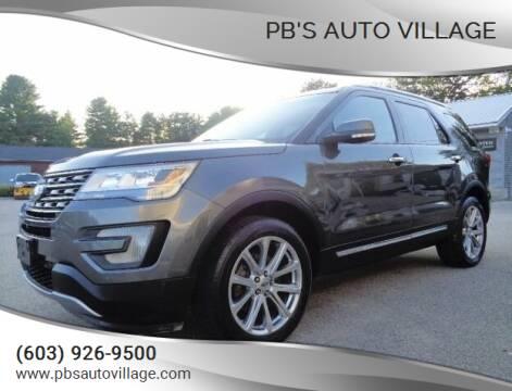 2017 Ford Explorer for sale at PB'S Auto Village in Hampton Falls NH