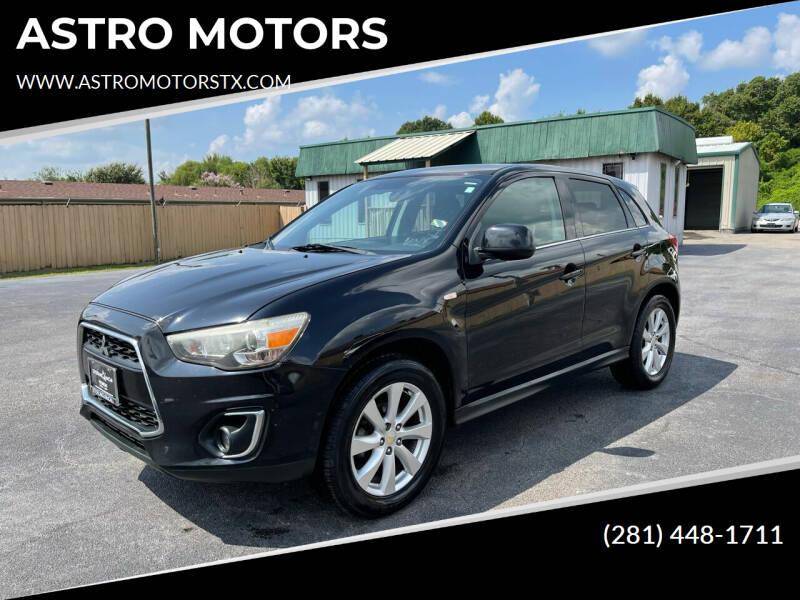 2013 Mitsubishi Outlander Sport for sale at ASTRO MOTORS in Houston TX