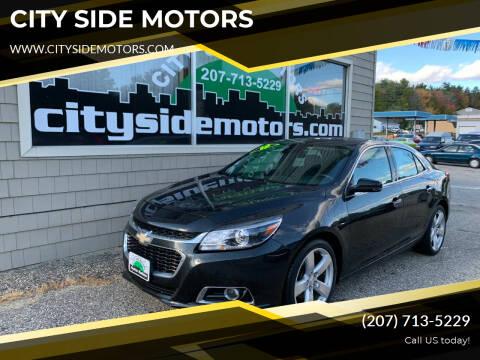 2015 Chevrolet Malibu for sale at CITY SIDE MOTORS in Auburn ME