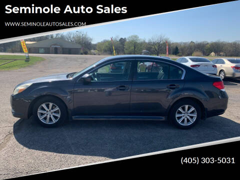 2011 Subaru Legacy for sale at Seminole Auto Sales in Seminole OK