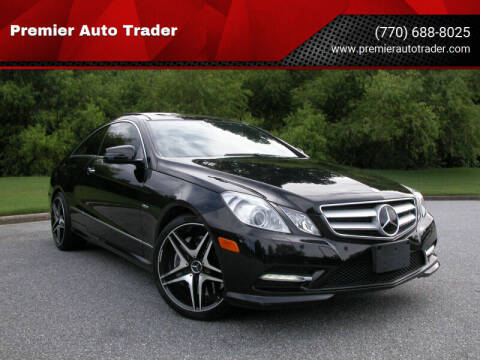 2012 Mercedes-Benz E-Class for sale at Premier Auto Trader in Alpharetta GA