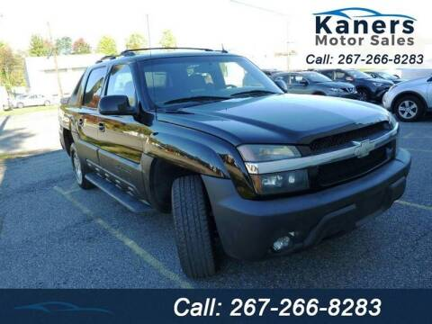 2004 Chevrolet Avalanche for sale at Kaners Motor Sales in Huntingdon Valley PA